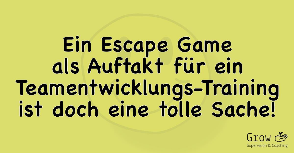 Ein Teamentwicklungs-Training mit einem Escape Room